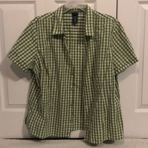 💚 Green Button Down ‼️ 269